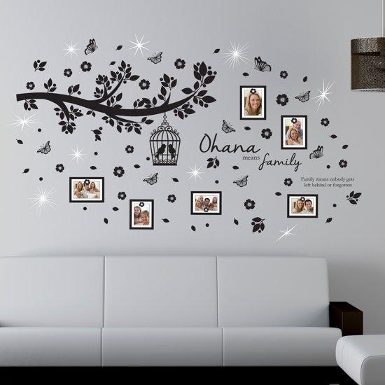 Waar Koop Ik Muurstickers.Walplus Muursticker Ohana Familieboom Foto Frames Met Swarovski Kristallen