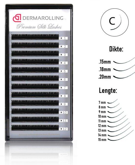 Dermarolling Exclusive Silk Mink Wimperextensions Krultype C - Dikte 0.18 - Lengte 7mm.
