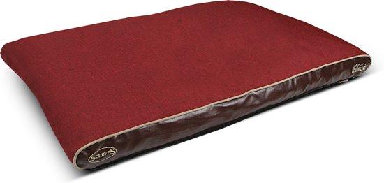 Scruffs Hilton Memory Foam - Hondenkussen - M - 100 x 70 cm - Rood