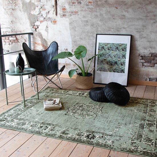 Vintage Vloerkleed -160x220 cm - Groen Zwart