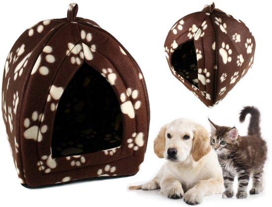 Comfort Fleece Dierentent - Dierenhuis Kattenhuis - Hondenhuis Katten & Honden Tent
