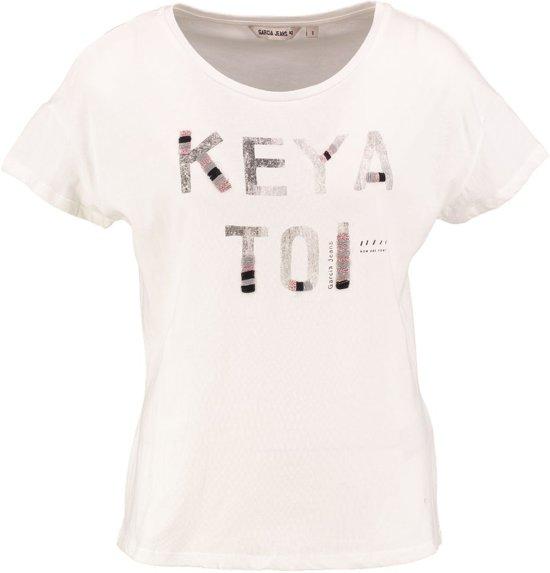 Garcia stevig zacht off white t-shirt - Maat M