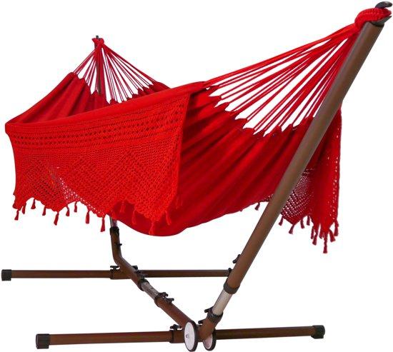 Hangmat Meekrap rood Large met universele standaard