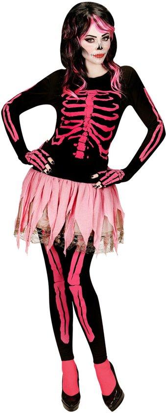 Halloween Kostuum.Bol Com Roze Skelet Halloween Kostuum Voor Dames