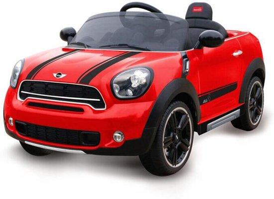 mini cooper elektrische kinderauto 12 v rood mini speelgoed. Black Bedroom Furniture Sets. Home Design Ideas