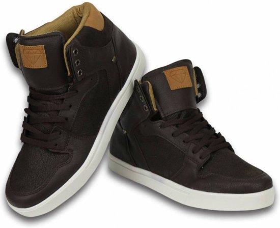 Cash Money Heren Schoenen - Heren Sneaker High - Vintage Choco - Maten: 41