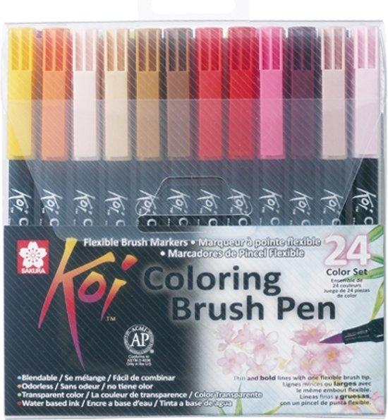 Koi Coloring Brush Pen 24 kleuren