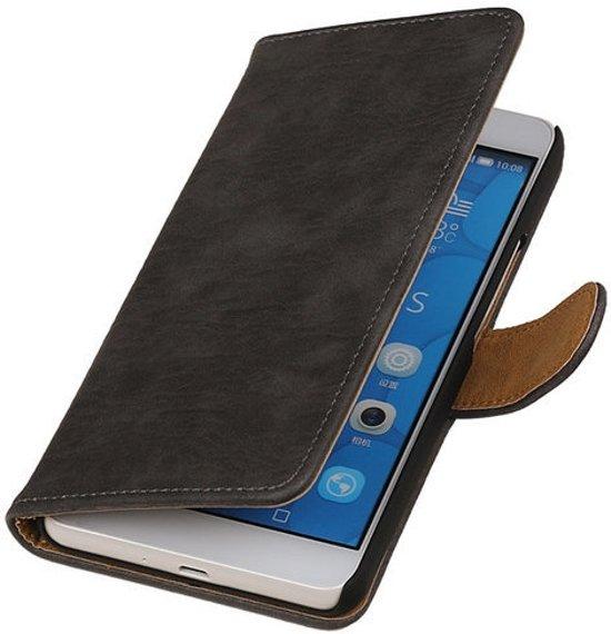 MiniPrijzen - Grijs hout design hoesje voor de Sony Xperia E4G Wallet Case - Book Cases - Bescherm Hoes Sony Xperia E4G book style - klap Flip Cover - Telefoonhoesje - Smartphone hoesje Sony Xperia E4G hoesje in Scherpenzeel / Skerpenseel