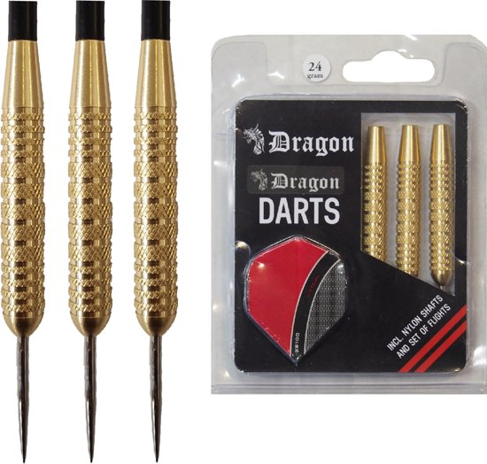 Dragon Darts Brass Beginner Darts darts pijlen - 24 gram - dartpijlen