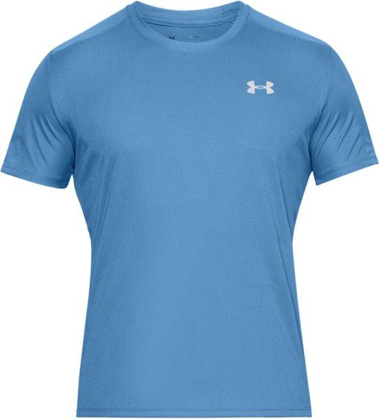 Under Armour Speed Stride SS Sportshirt Heren - Ether Blue - Maat L
