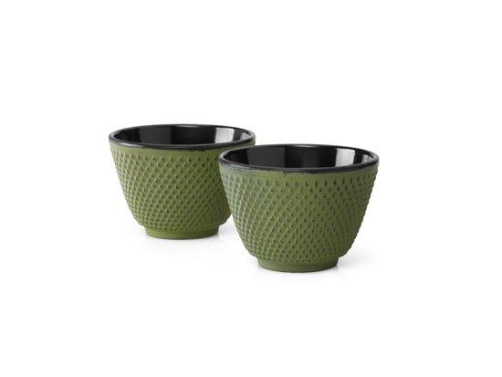 Bredemeijer Kopjes Jing - Gietijzer - set van 2 - Groen