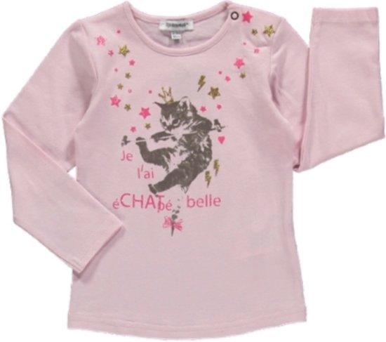 3pommes Meisjes Shirt Lichtroze - Maat 86/92