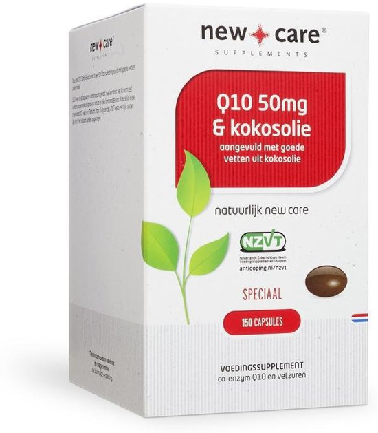 New Care Q10 & Kokosolie Speciaal - 50 mg  - 150 capsules - Voedingssupplement
