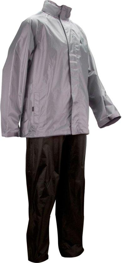 Ralka Regenpak - Volwassenen - Unisex - Maat S - Grijs/Zwart