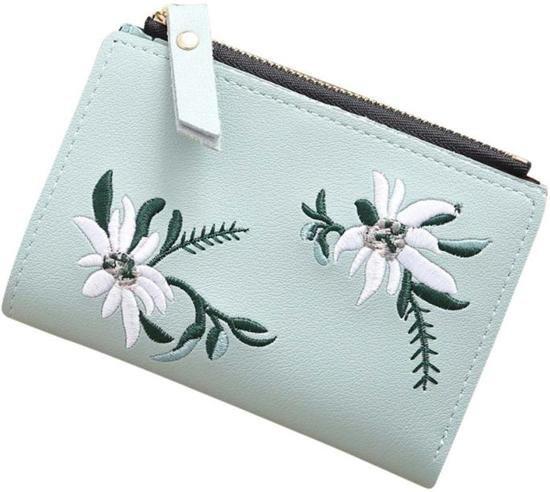 Compacte  Portemonnee – Dames Portemonnee – Mini Wallet – Kaart Houder – Blauw