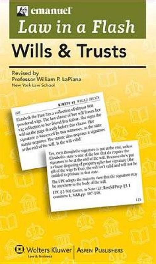 Afbeelding van het spel Emanuel Law in a Flash for Wills and Trusts