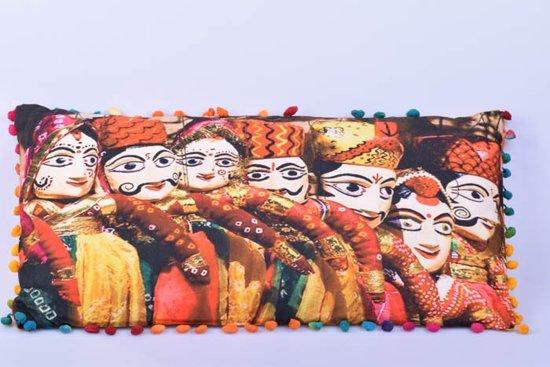 Indiase Sierkussen met mooie print nr 1 - Gems and Giftshop
