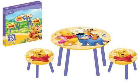 Ronde tafel met 2 krukjes Winnie the Pooh