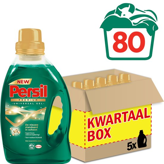 persil premium universal gel wasmiddel kwartaalbox 80 wasbeurten. Black Bedroom Furniture Sets. Home Design Ideas