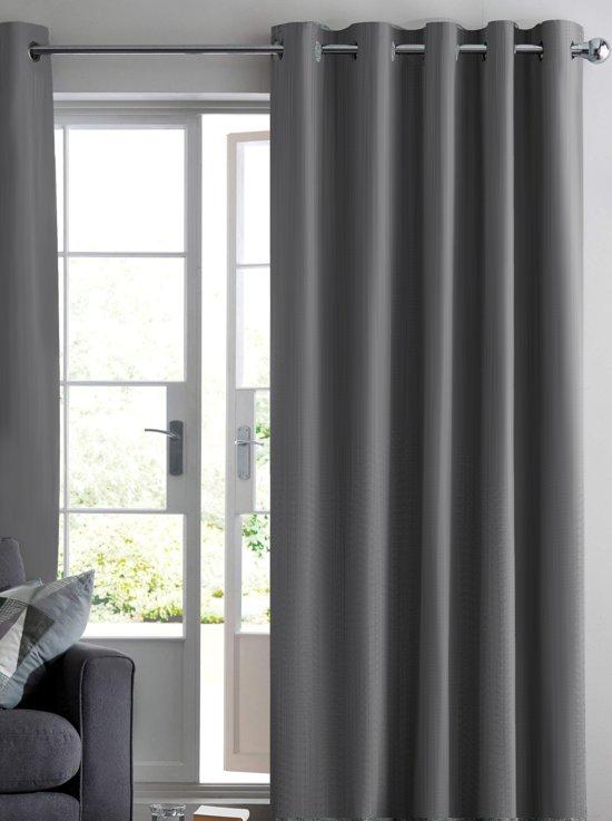 Ruben verduisterend gordijn grijs 150x250 cm for Gordijnen stof