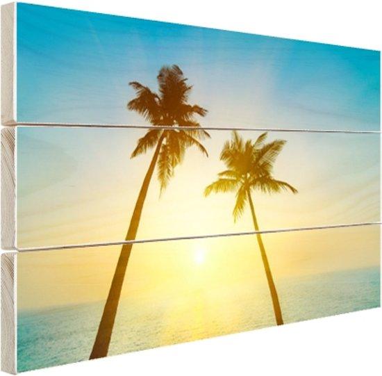 Een tropisch paradijs Hout 80x60 cm - Foto print op Hout (Wanddecoratie)