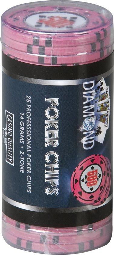 Afbeelding van het spel Diamond Poker Chips - Rol met 25 chips waarde 500 - Casino Kwaliteit