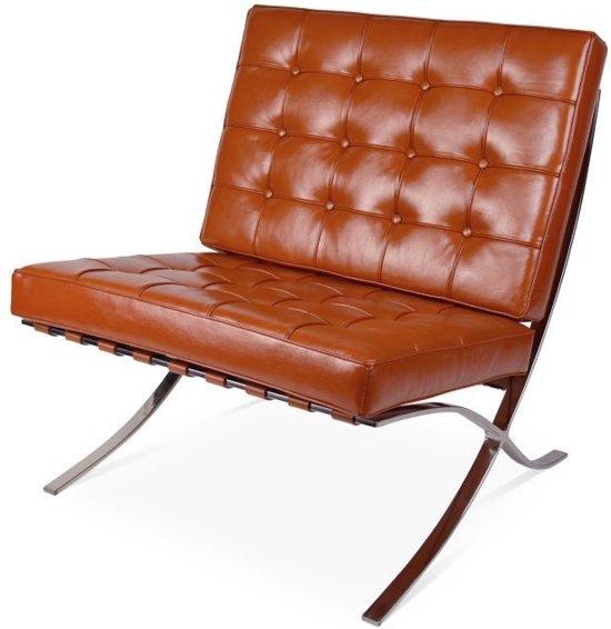 Barcelona Stoel Zwart Leer.Bol Com Barcelona Chair Cognac Fauteuil