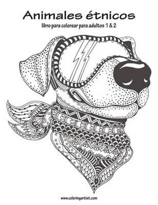 bol.com | Animales Etnicos Libro Para Colorear Para Adultos 1 & 2 ...