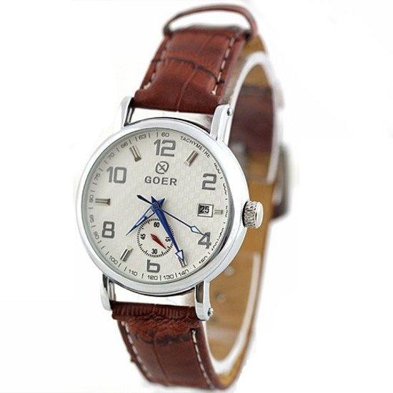 GOER kinetisch horloge bruin #19