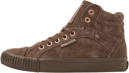 f4cf64df644 Dames Hoog Sneakers Brown 37 Suede Dee British Knights BqAw8