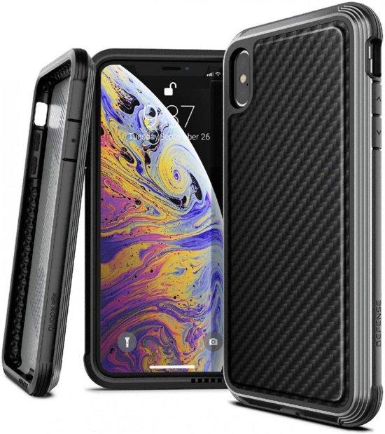 X-Doria Defense Lux Hoesje iPhone XS Max Zwart Carbon Fiber