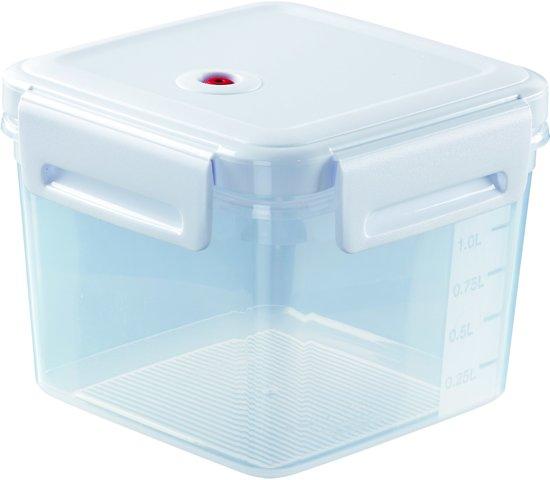 Curver Aroma Fresh Premium Vershouddoos - 1,7 l - Vierkant - Transparant/Wit