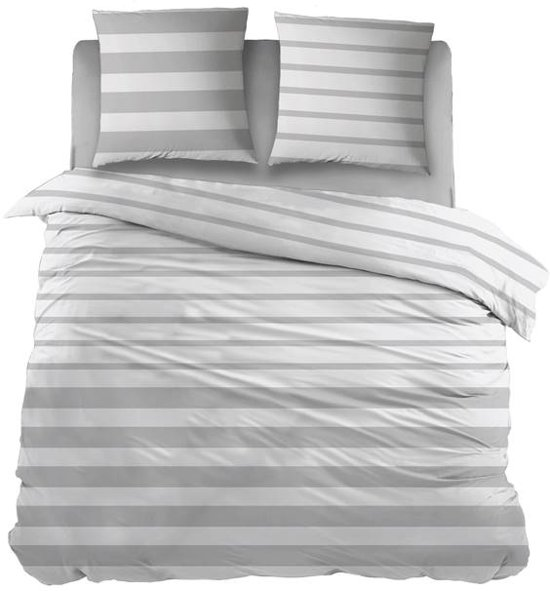 Snoozing Mandy - Dekbedovertrek - Lits-jumeaux - 270x200/220 cm + 2 kussenslopen 65x65 cm - Grey