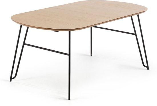 Uitschuifbare Eettafel 140.Bol Com Kave Home Uitschuifbare Ovale Tafel Novac 140 X
