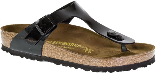 Birkenstock Gizeh - Slippers - Black Patent - Regular - Maat 35