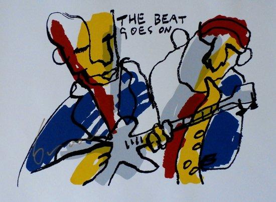Herman Brood Schilderij Zeefdruk 'The beat goes on 1'