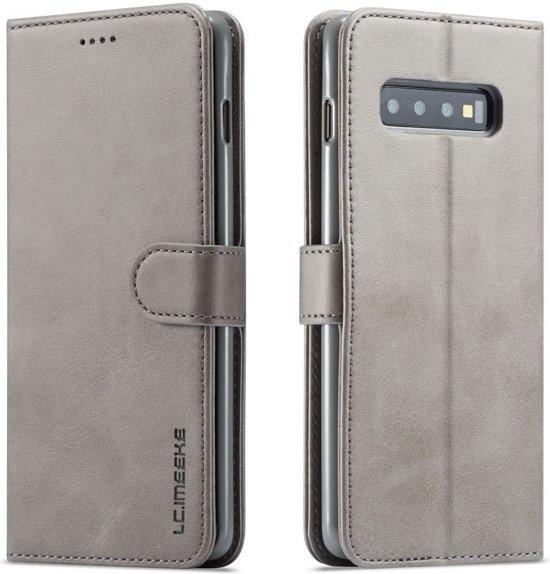 Samsung Galaxy S10 Plus Stand Portemonnee Bookcase Hoesje Grijs