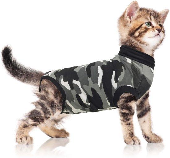 Suitical recovery suit kat zwart camouflage xs 40-45 cm
