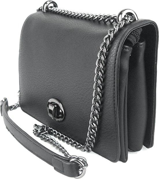 zwarte handtas met ketting