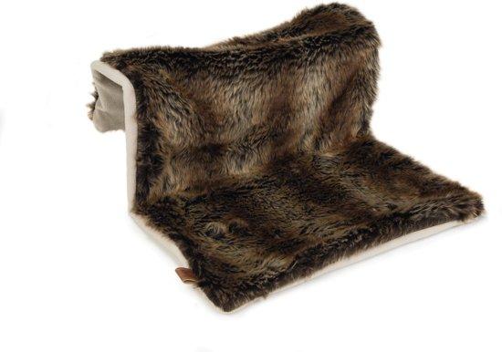 Designed by Lotte radiatorhangmat Relaxy. Verstelbaar. Bruin. 40 x 30 x 25 cm. Afmeting: 40x30x25 cm. Kleur: bruin