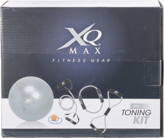 XQ max Fitness -set 5 in 1 - Zwart/Grijs