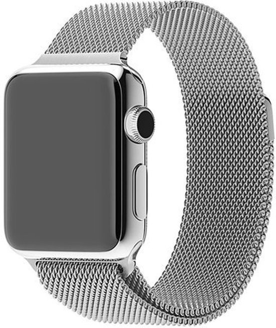 Milanese Loop Armband Voor Apple Watch Series 1/2/3 38 MM Iwatch Metalen Milanees Horloge Band - Zilver Kleurig