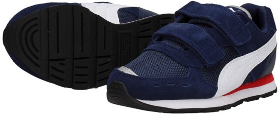 PUMA Vista V Ps Sneakers Kinderen Peacoat Puma White Maat 34