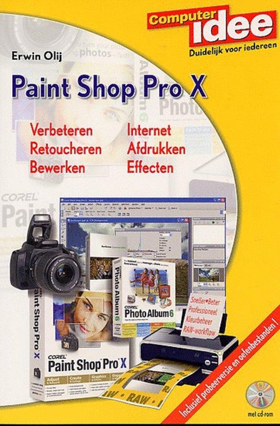 Cover van het boek 'Paint Shop Pro X + CD-ROM'
