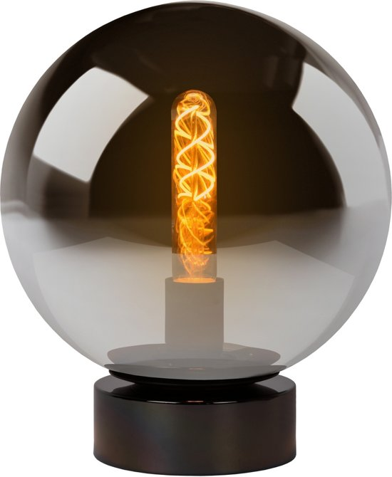 Lucide JORIT - Tafellamp - Ø 25 cm - Fumé
