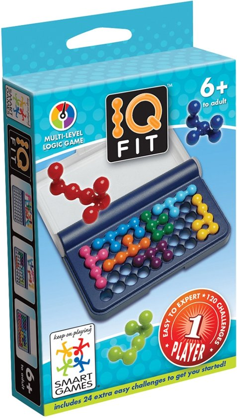 Thumbnail van een extra afbeelding van het spel Smart Games IQ-Fit - Reiseditie