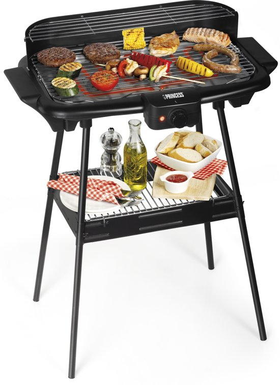 Electric BBQ with Stand Black