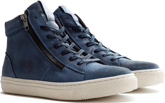 b91399e89a534e Travelin Orléans Leather - Casual dames sneaker - Blauw leer
