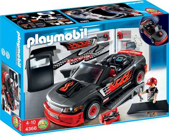 playmobil tuning sportauto met geluid 4366 playmobil. Black Bedroom Furniture Sets. Home Design Ideas