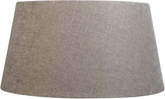 QAZQA  50/40/26 SD - Lampenkap stof - Ø50 cm - Klei
